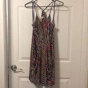 Colorful Surplice BCBG Dress